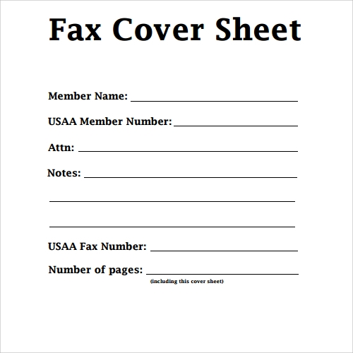 Fax Cover Sheets Templates  Templates