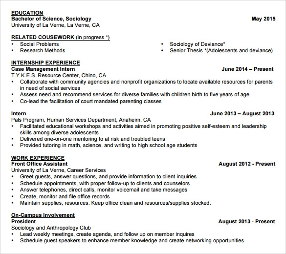 sle student resume template 11 free documents in pdf