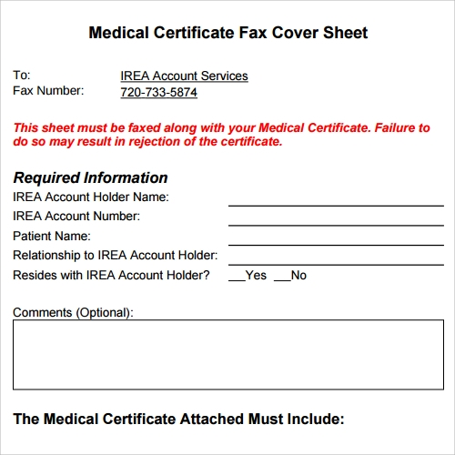 printable medical fax cover sheet