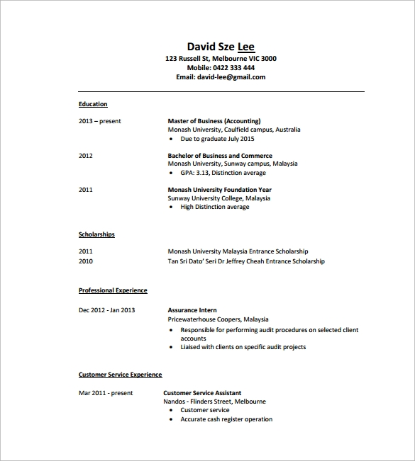 8 tutor resume templates samples examples format sample templates