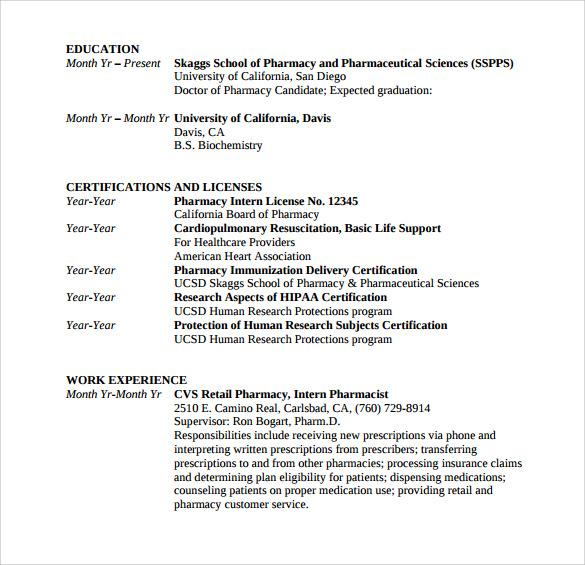 graduate student resume template - Graduate Student Resume Templates