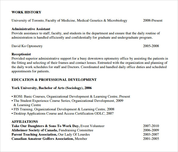 reception resume sample - Receptionist Resumes Samples