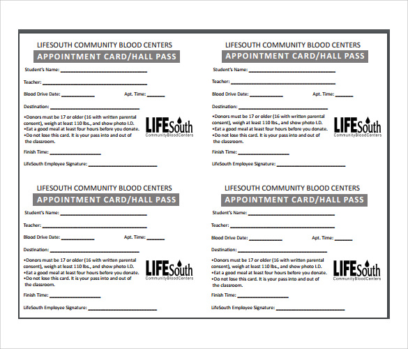Sample Appointment Card - 8+ Sample, Example, Format