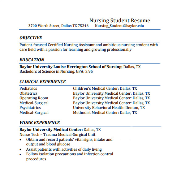 Resume Nurse Practitioner Cover Letter Example Sample Intended Sample Resume  Undergraduate Nursing Student Sample Customer Job  Nursing Student Resume Clinical Experience