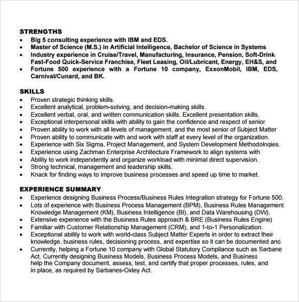 business analyst resume format - Sample Business Analyst Resume