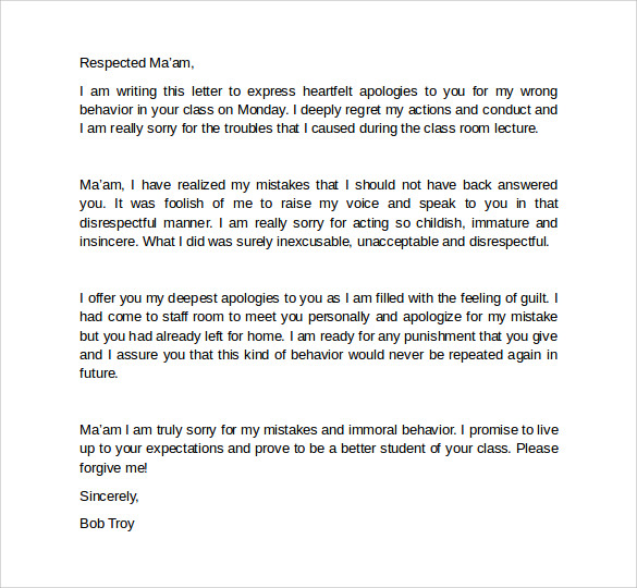 How To Write An Apology Letter To A Teacher (With Pictures)Apology
