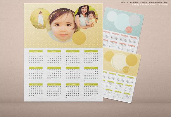 sample cute calendar template