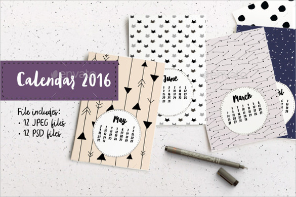 Cute Calendar Template - 13+ Download Free Documents In Pdf , Word