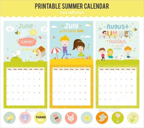 cute calendar diary 2016