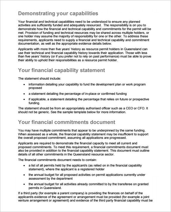 free sample capability statement