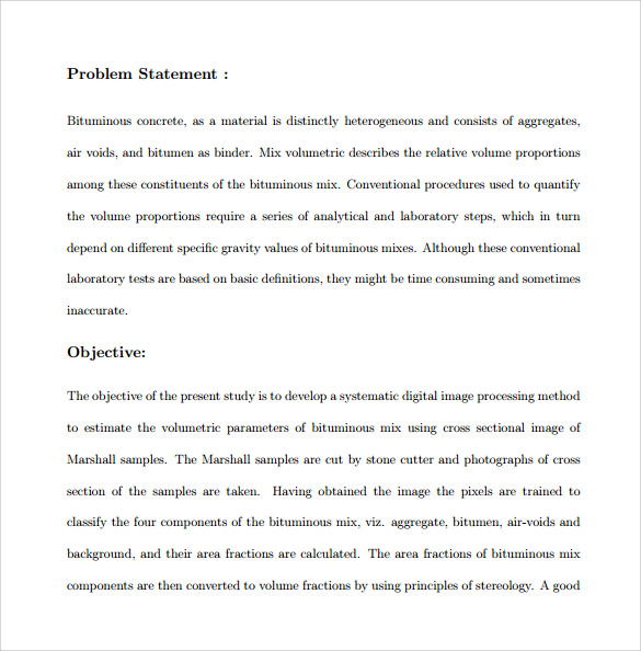 Problem statement examples business plan
