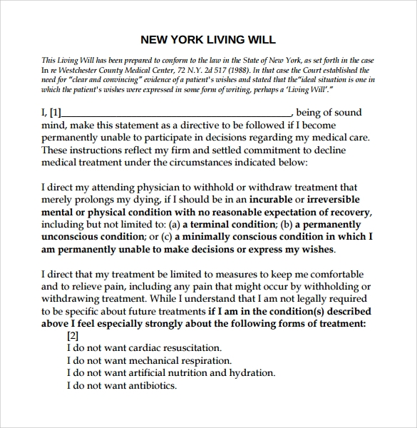 Sample Living Will Template Living Well Form Sample Download Sample