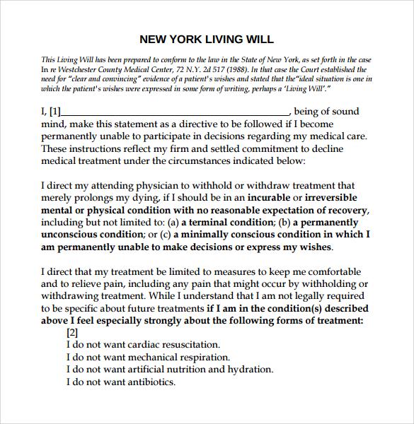 living will template - solarfm.tk