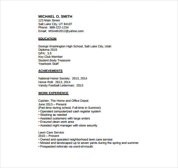 need help writing a resume