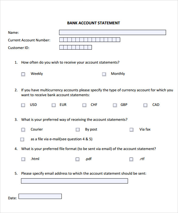 Statement Of Account Template - 10+ Download Documents In PDF | Sample Templates