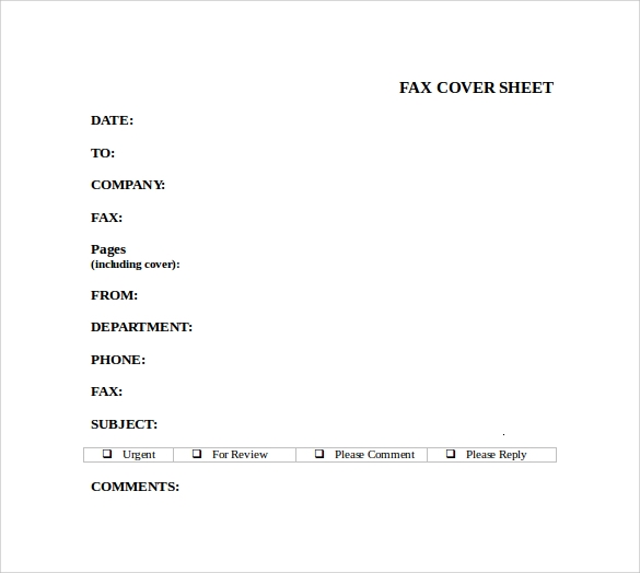 Resume Cover Sheet Examples