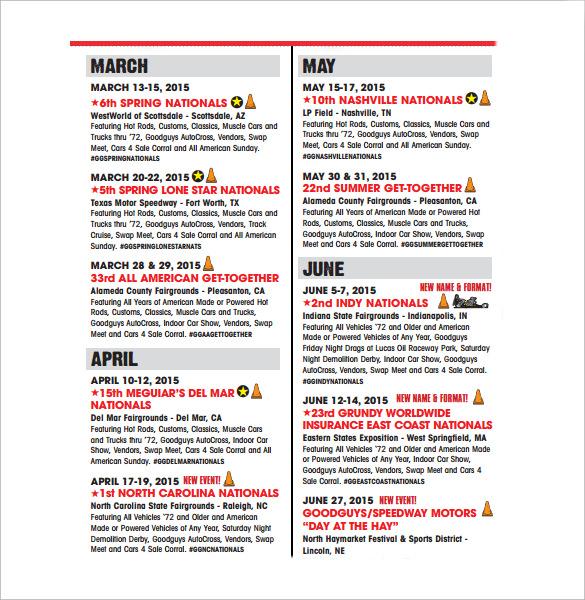 sports event schedule1