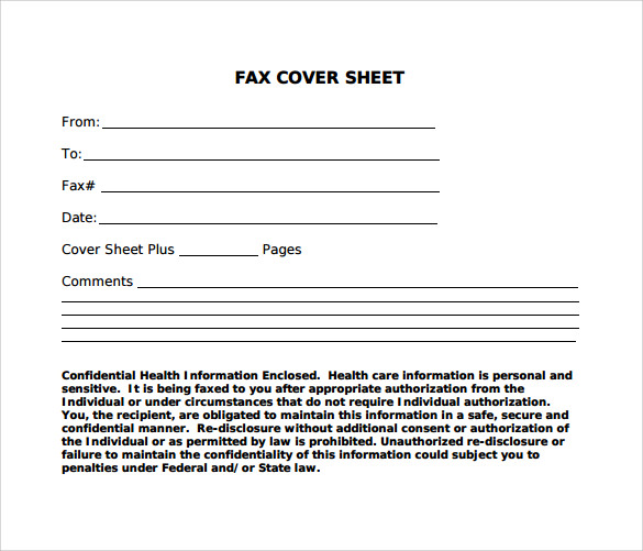 12 Standard Fax Cover Sheets – Samples, Examples & Formats