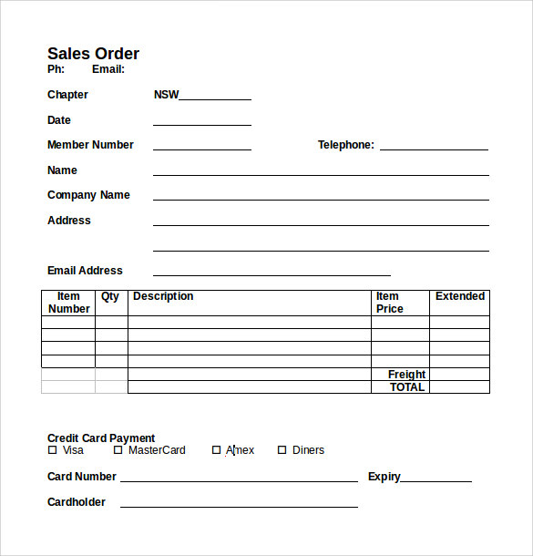 7 Sales Order Samples Sample Templates