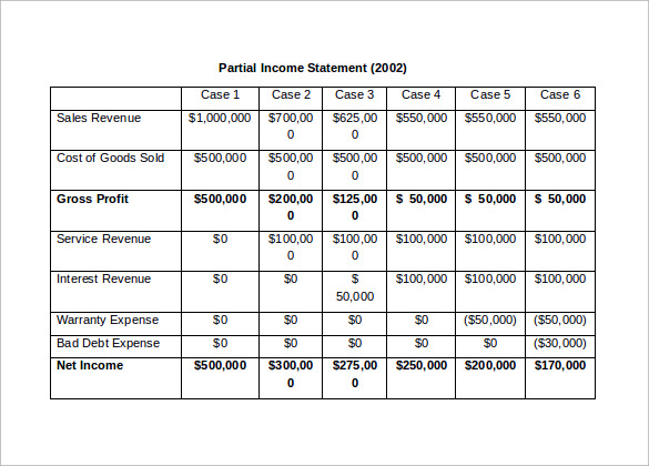 simple income statement doc