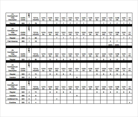 sample payroll timesheet calculator