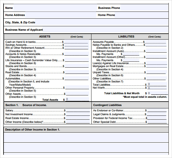 personal financial statement2