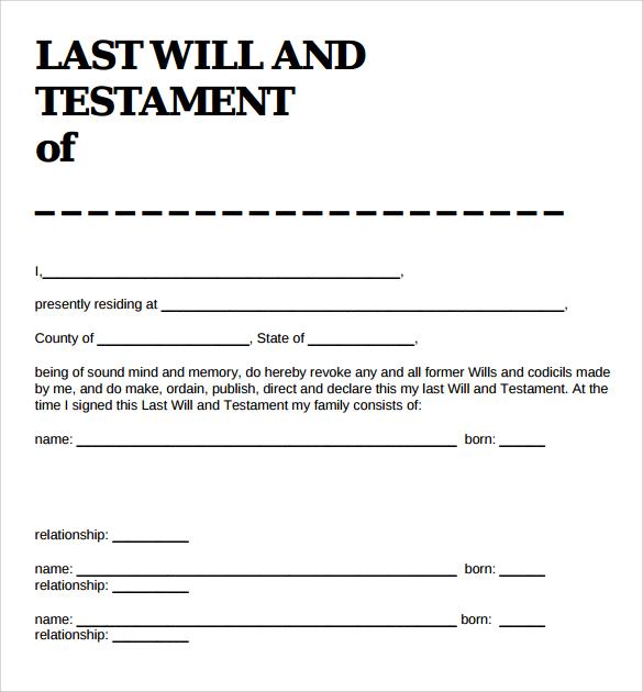 Last will and testament template trattorialeondoro 39 last will and testament forms templates template lab maxwellsz