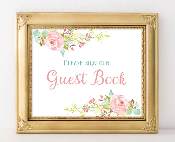 printable guest book template