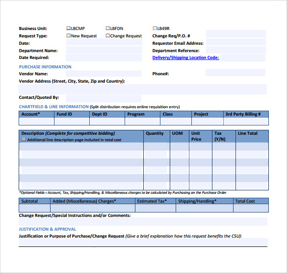 Superb Change Request Order Template