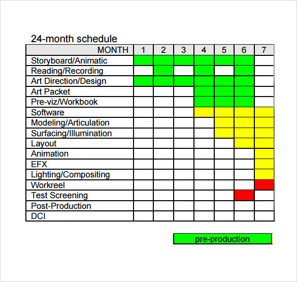 12  production schedule templates