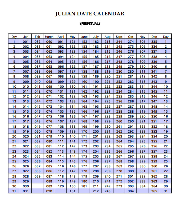 Julian Calendar   Download Documents In Pdf  Psd