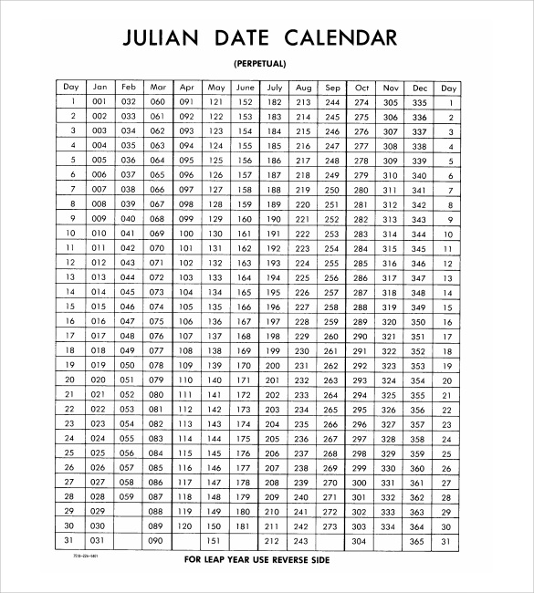 Julian Calendar 8 Download Documents in PDF PSD – Sample Julian Calendar
