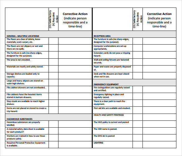 Sample Inspection Checklist - 14+ Documents In PDF, Word
