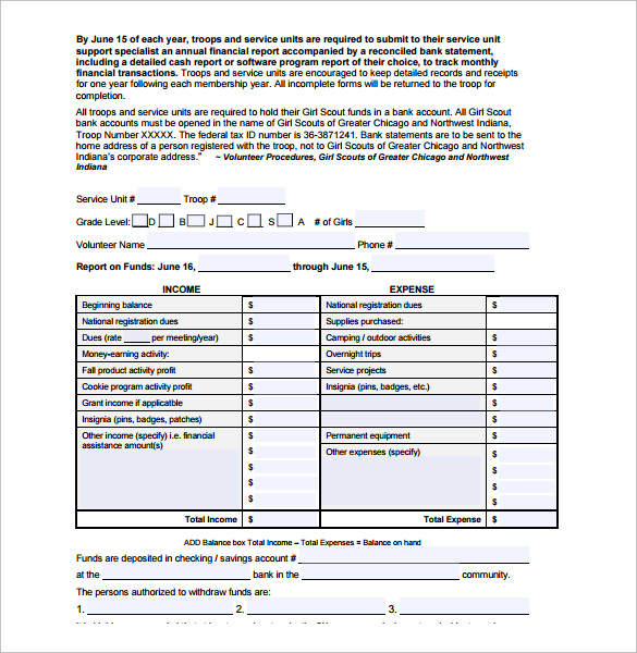 Sample Financial Report Template   Free Documents Download In
