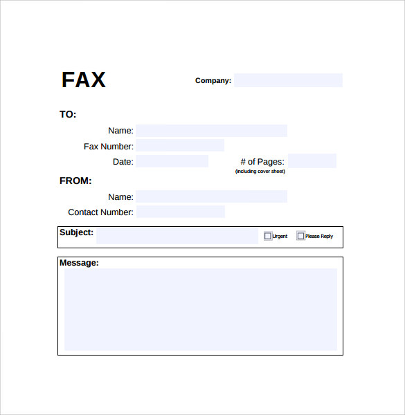 Fax resume cover sheet sample