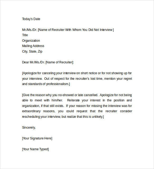 Sample Apology Letter For Being Late    Free Documents To Download