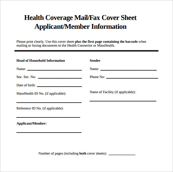 Sample Fax Cover Sheet   Documents In Pdf Word