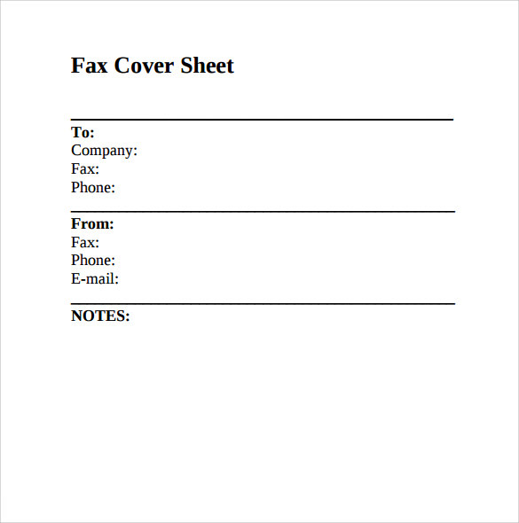 Fax Cover Sheet Download  Free Fax Template Cover Sheet Word