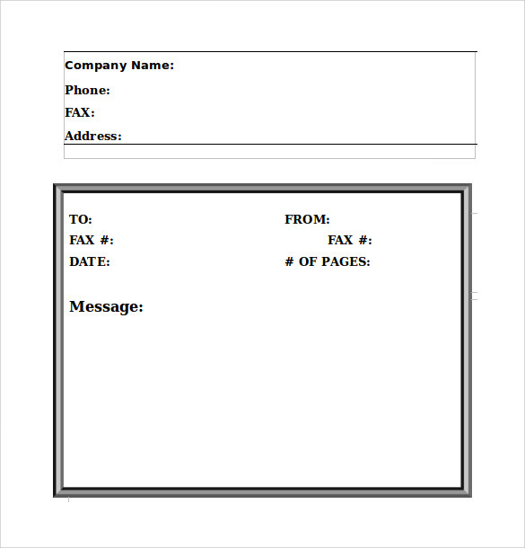 Sample Fax Cover Sheet - 11+ Documents In Pdf, Word
