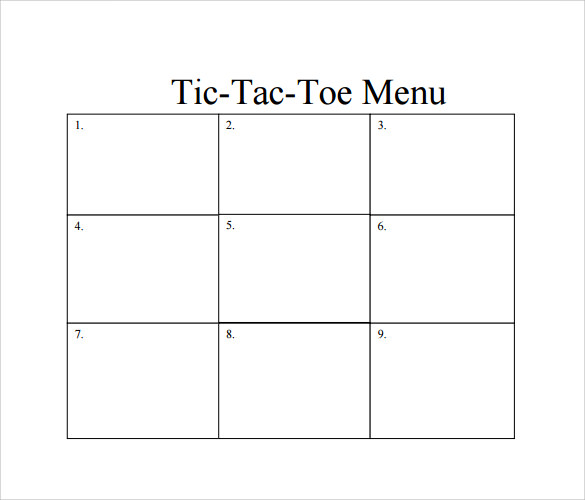 Sample Tictac Toe Template 9 Free Documents in PDF Doc – Tic Tac Toe Template