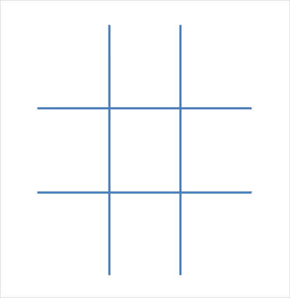 tic tac toe template text