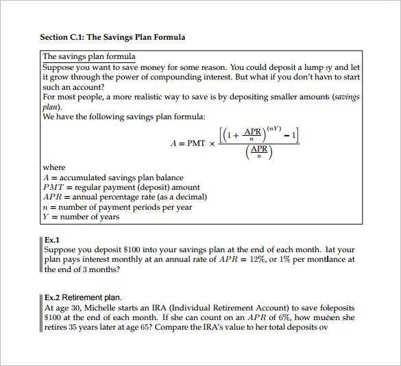Sample Retirement And Savings Calculator   Documents In Pdf Word