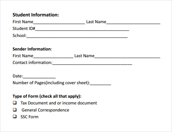 Sample General Fax Cover Sheet - 10+ Documents In Pdf, Word