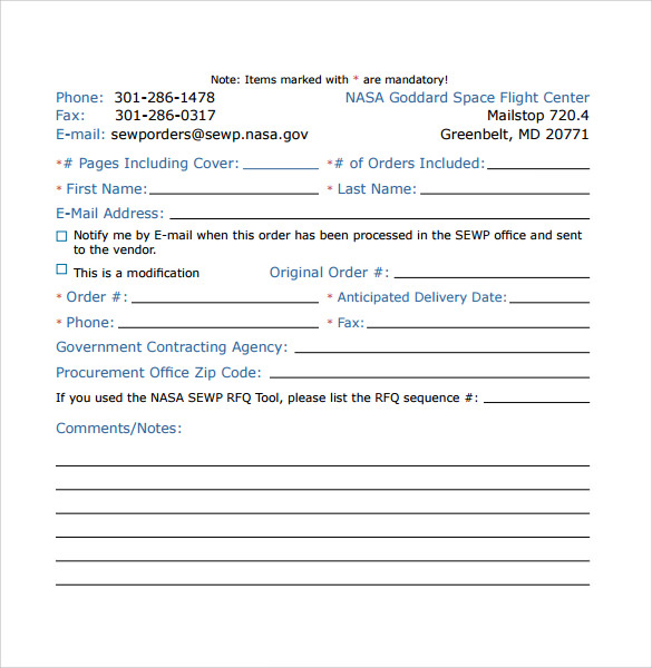 sewp fax cover sheet