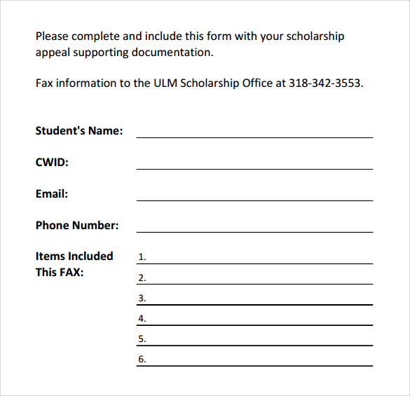 free download general fax cover sheet