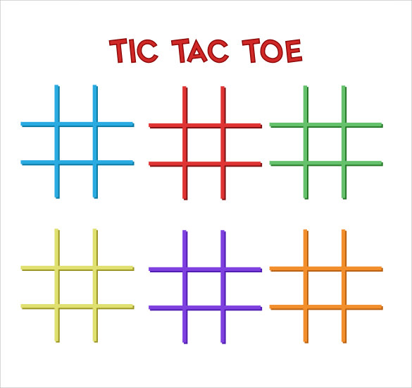 10 tic tac toe templates to download for free sample for Tic tac toe menu template