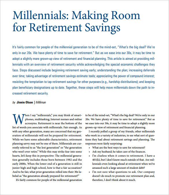 retirement and savings calculator free pdf