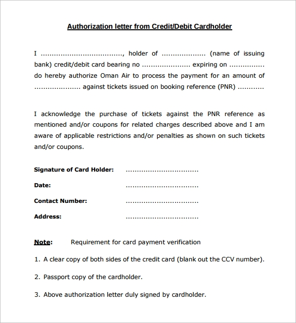 Letter of Authorization Form 19 Samples Examples Format – Sample Letter of Authorization Form