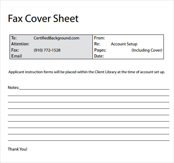 11  sample fax cover sheets