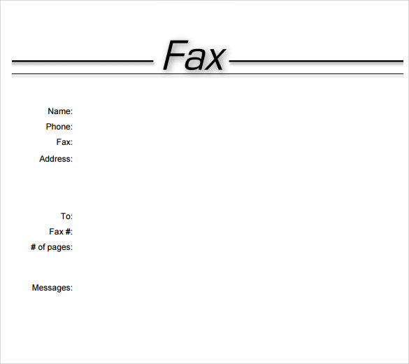Printable Fax Cover Sheet Template Word 2007  Example Of Fax Cover Letter